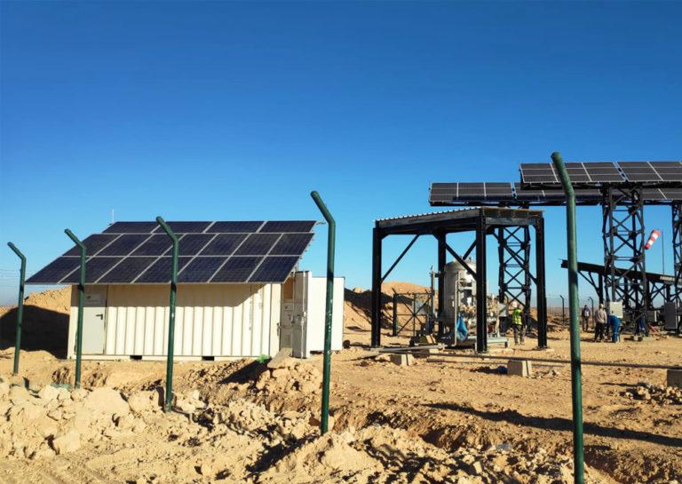renewable energy, desert, gas pipeline